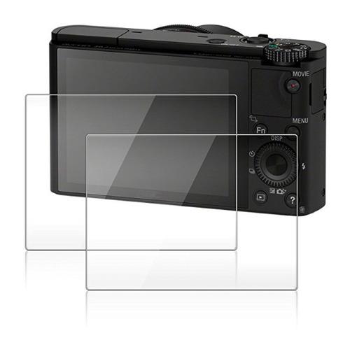 protector de pantalla para sony rx100iii rx100ii 2 pack