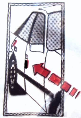 protector de puerta universal con ojo de gato reflectivo x 4
