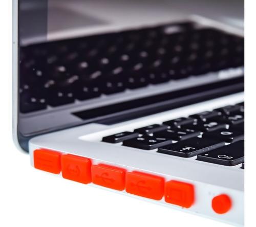 protector de puertos macbook pro / air / retina colores
