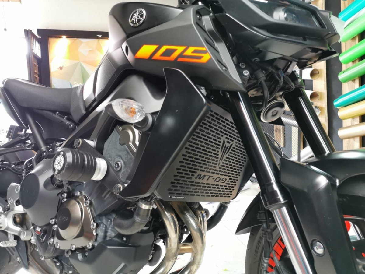 Nrpfell Protector Cubierta del Protector del Radiador de Acero Inoxidable de la Motocicleta para Xmax 125 X-MAX 250 Xmax 300 X-MAX 400 2017-2019 de la Rejilla del Radiador