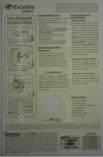 protector de refrigerador exceline original 3 años garantia