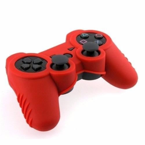 protector de silicona rojo  para control sony playstaion ps3