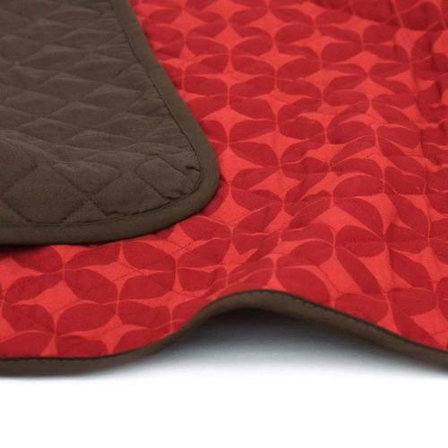 protector de sillón individual marsala rojo café vianney