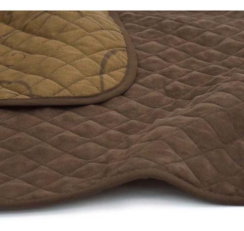 protector de sillon individual trani cafe 2 vistas vianney sirve también para reposet (reclinable)