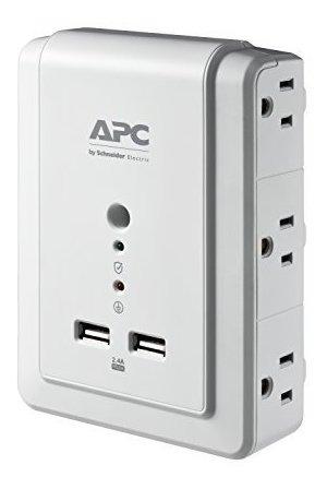 protector de sobretension de pared de 6 salidas de apc con p