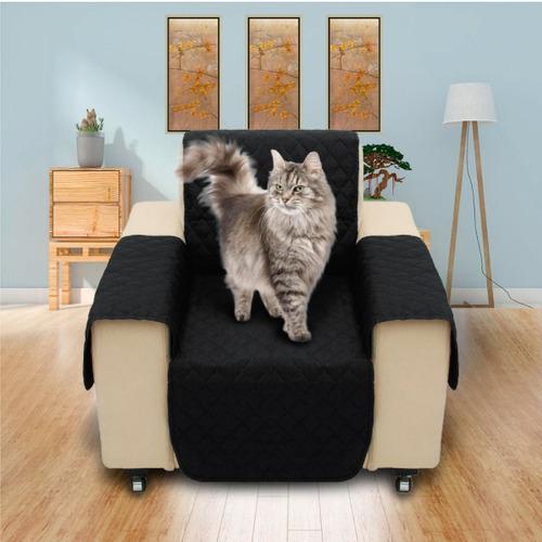 protector de sofa 1 puestos doble faz gris - negro