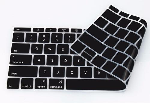 protector de teclado en español macbook 12 pulgadas negro