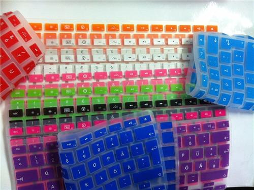 protector de teclado español para macbook pro/air 13 y 15