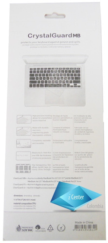 protector de teclado macbook white air 13 15 17 español imac