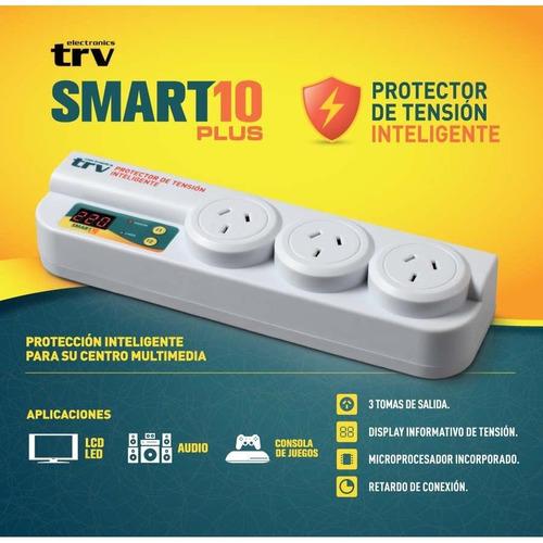 protector de tension de 3 tomas trv smart 10 plus