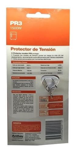 protector de tensión heladera 1500w stand by anthay - tofema