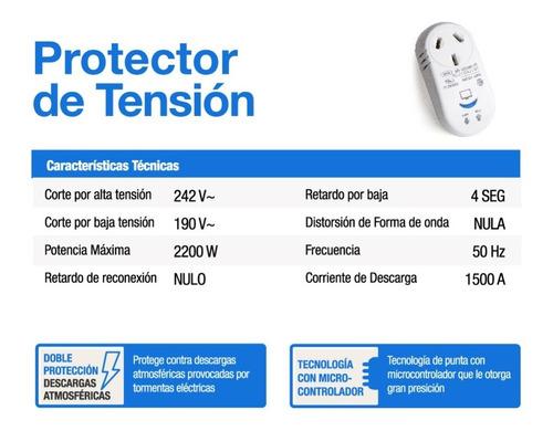 protector de tension lavarropas caldera lavavajilla pr2