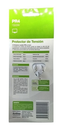 protector de tensión tv led 1500w stand by anthay - tofema