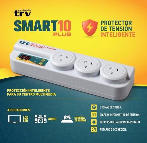 protector de tensión tv led lavarropas trv smart 10 3 tomas