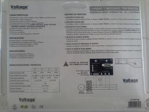 protector de voltage aire acondicionado bomba  trifasico