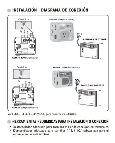 protector de voltaje 120v aire acondicionado nevera exceline