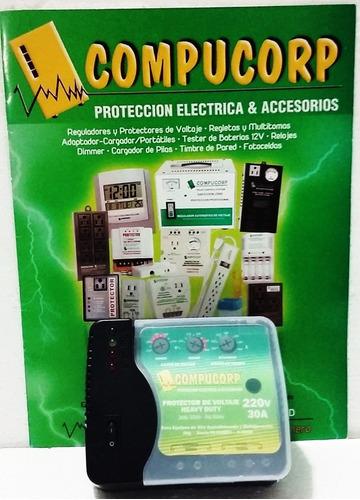 protector de voltaje 220v 30a a/acond congeladores compucorp