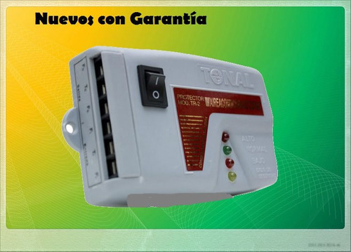 protector de voltaje 220v aire acond nevera - bornera tr-2