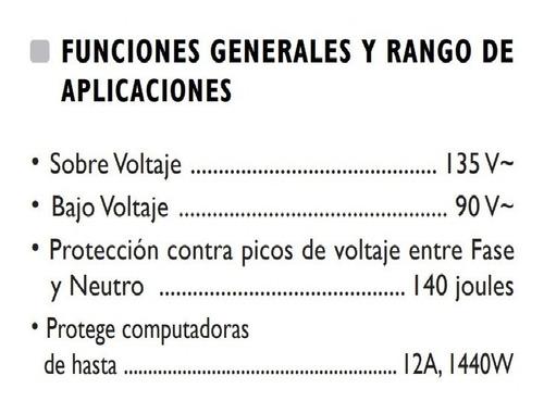 protector de voltaje exceline para computadoras impresoras