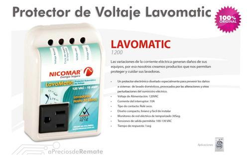 protector de voltaje lavomatic 110v 10a lavadora secadora