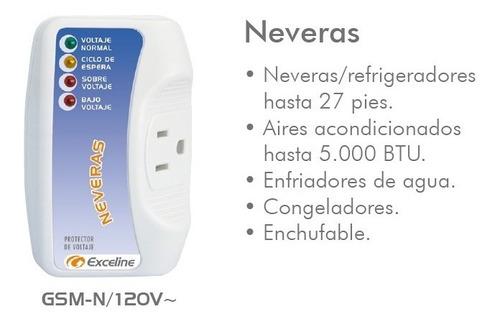 protector de voltaje neveras 120v exceline
