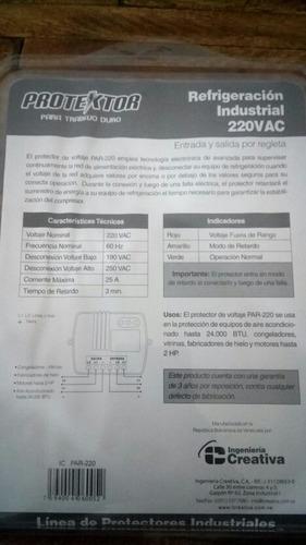 protector de voltaje/ refrigeración industrial 220 vac