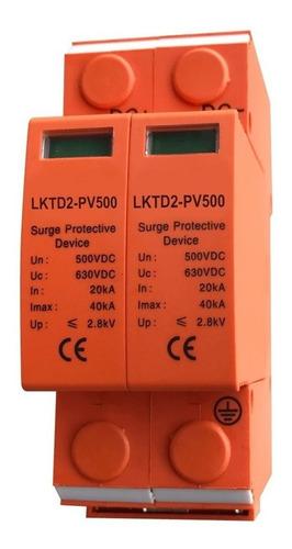 protector descargas atmosf 500vcc 2p solar pararrayos cuotas