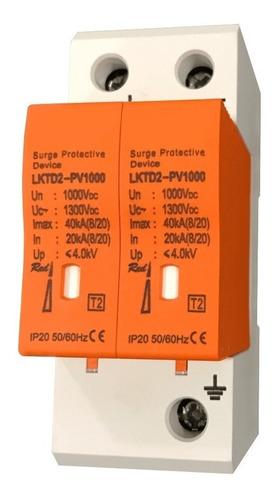 protector descargas atmosféricas 1000vcc 2p 40ka pararrayos