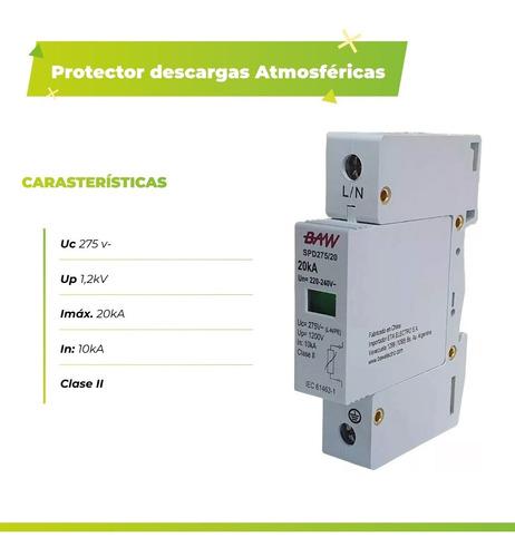 protector descargas atmosfericas 275v 20ka sobretension baw