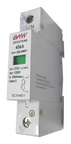 protector descargas atmosfericas 275v 40ka sobretension baw