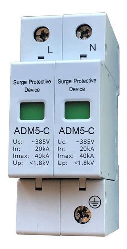 protector descargas atmosféricas 385vca 1p+n 40ka pararrayos