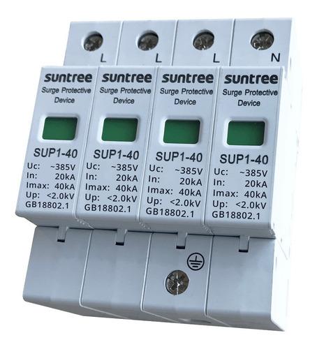 protector descargas atmosféricas 420vca 3p+n 40ka pararrayos