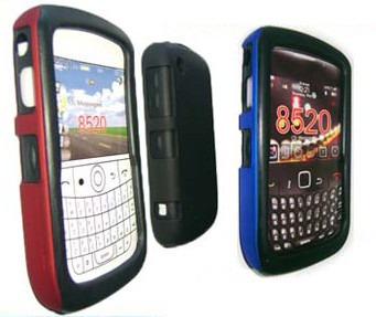 protector doble blackberry 8520 silicona + acrilico