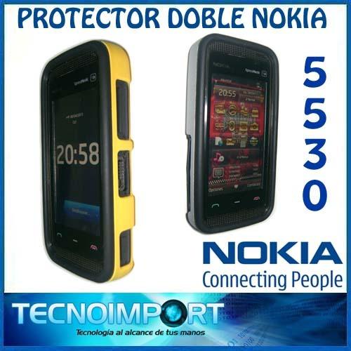 protector doble nokia 5530 silicona + acrilico