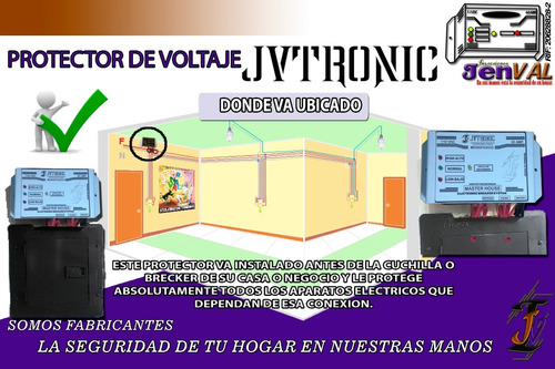 protector electrico de voltaje y corriente para casa