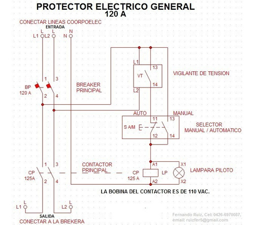 protector electrico integral general 50 amp.