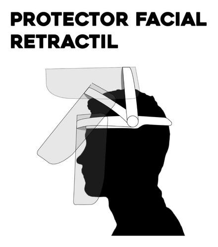 protector escudo facial mica transparente ajustable e07