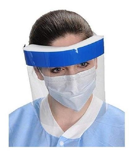 protector escudo facial transparente + mascarilla anatómica