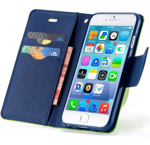 protector estuche agenda billetera iphone 8 7 6s 6 y 6 plus®