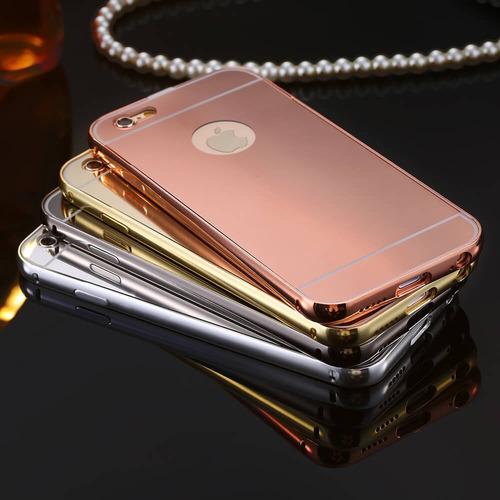 protector estuche espejo bumper case lujo iphone 6 7 7 plus