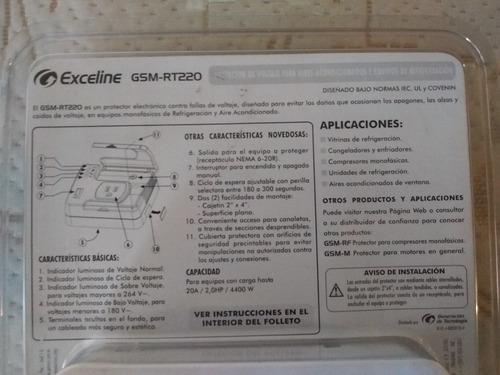 protector exceline 220v aires acondicionados y refrigeracion
