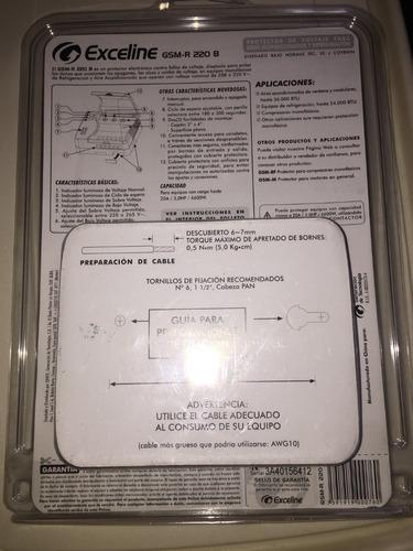 protector exceline 220v para aire acondicionado