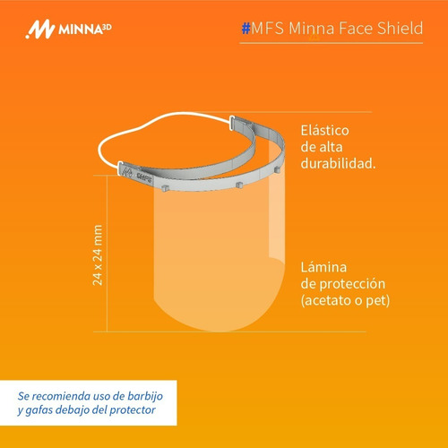 protector facial mascara pet 0.33mm mas tapa boca lavable