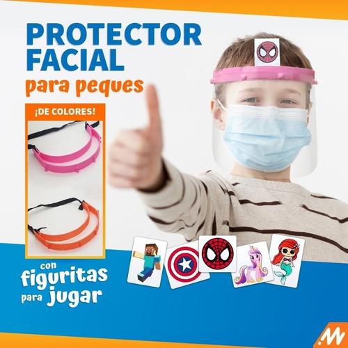 protector facial para niños niñas menores barbijo kids
