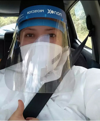 protector facial visor anti virus covid19  rostro. 6 x 36