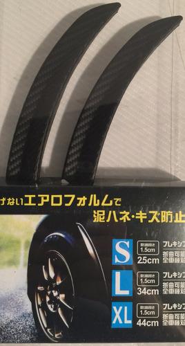 protector fender guardabarro goma simil fibra carbono 44cmx2