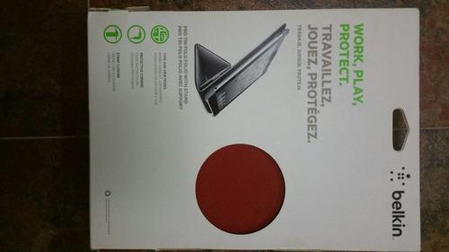 protector forro case ipad 3ra gen / ipad 2 belkin color rojo