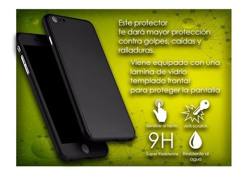 protector full 360 con vidrio templado iphone 5 y 7