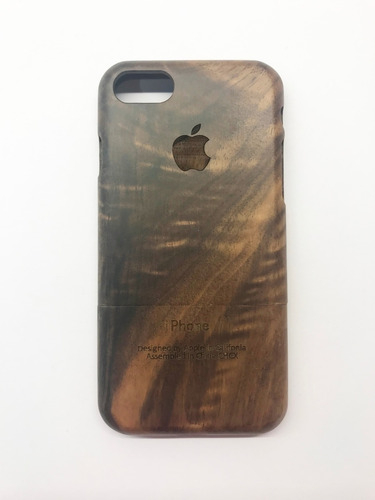 protector funda madera real original iphone 7 y 8.