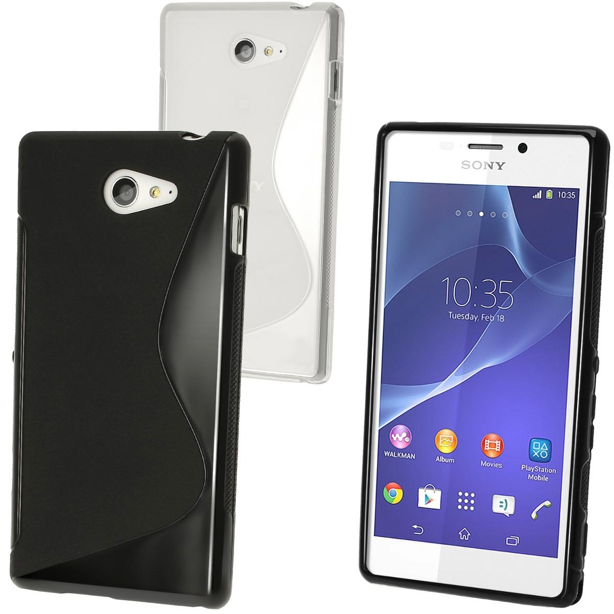 7c71686a64d Protector Funda Silicona Tpu Para Sony Xperia M2 - S/ 14,99 en Mercado Libre